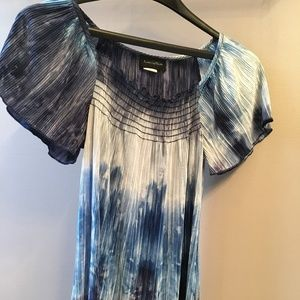 Tops - Blue and white blouse